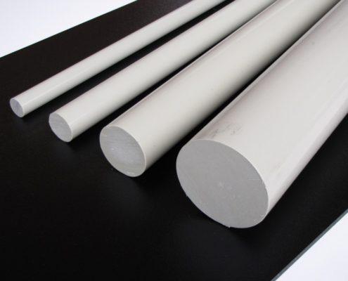 PP polypropeen staf grijs