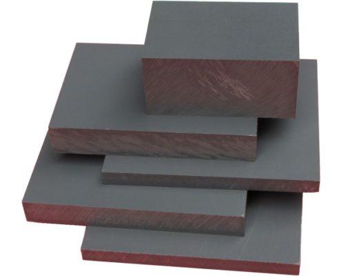 PVC grijs plaat