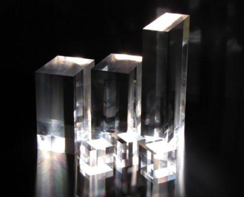 Gepolijste acrylaat blokken
