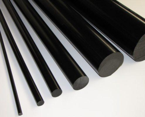PA6 nylon zwart rondstaf