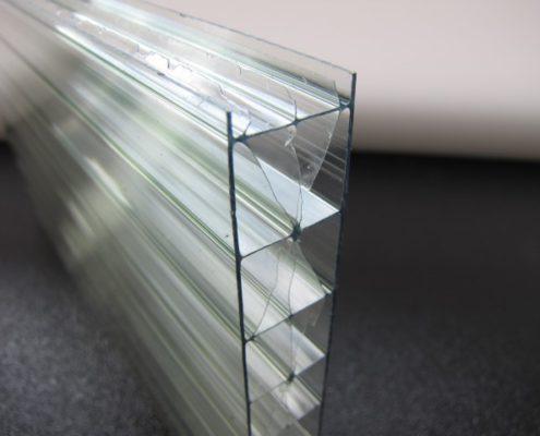 Polycarbonaat kanaalplaat helder UV-bestendig